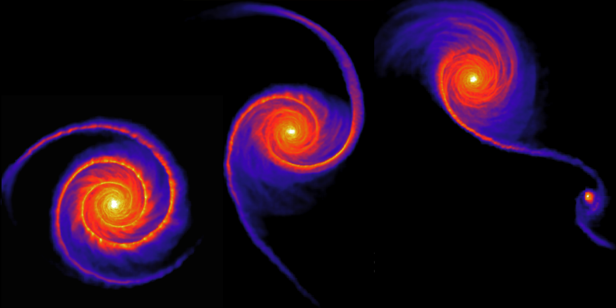 Spiral structure in a galactic disc driven by a small companion