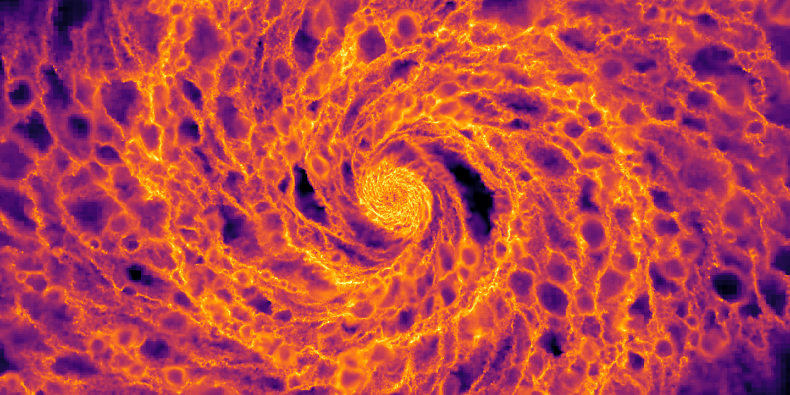 Gas within a barred galaxy
